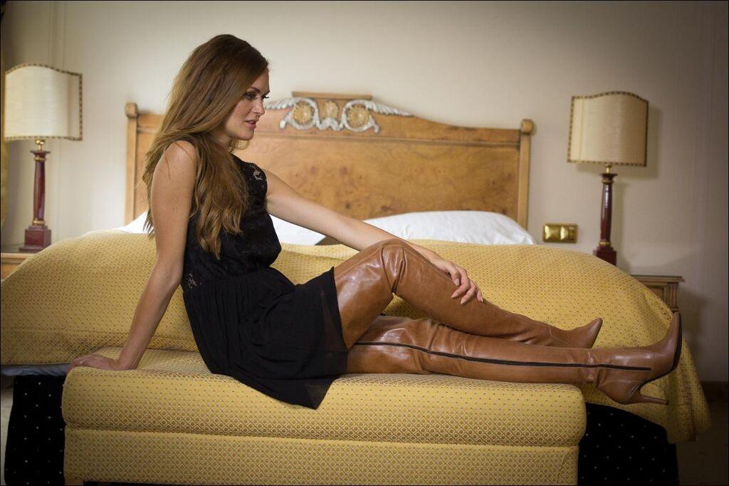 Leather skirt exhibitionist amateur big tits