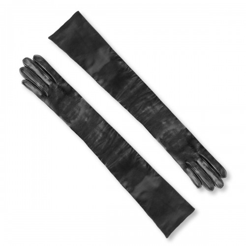 Opera leather gloves above the elbow standard size (Model 202)