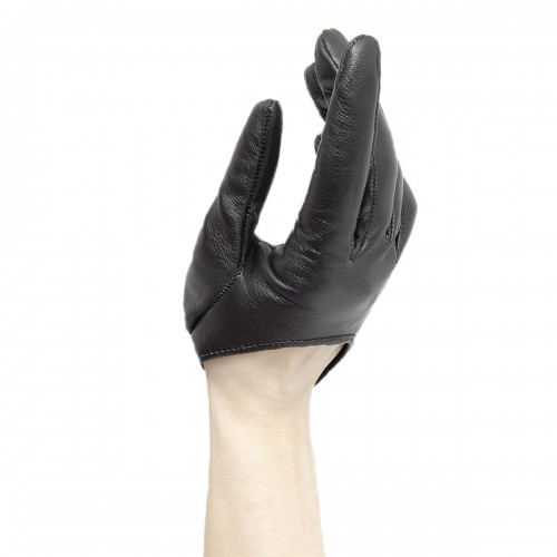 Half-scoop leather gloves with button standard size (Model 208)