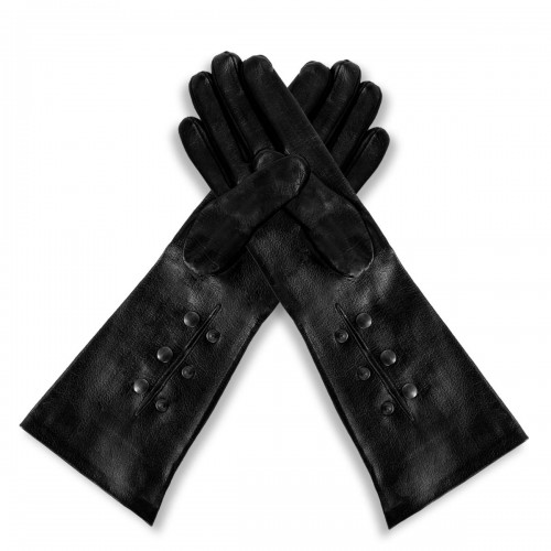 Opera leather gloves with push buttons forearm standard size (model 215)