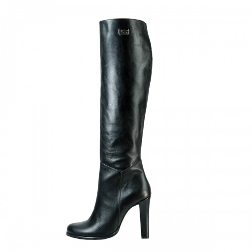 Knee high boot with wide heel made-to-measure (Model 302)