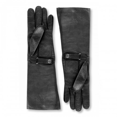 Leather gloves with wide shaft forearm length standard size (Model 204)