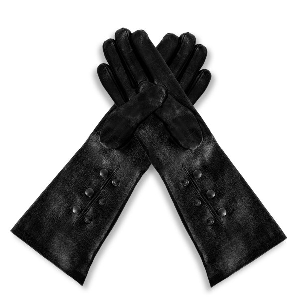 Opera leather gloves with push buttons forearm made-to-measure (model 215)