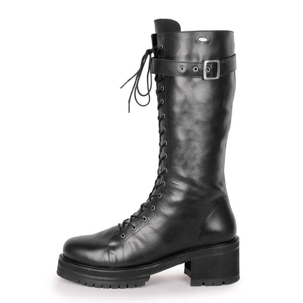 Boots Combat/Gothic style calf-high standard size (Model 370)