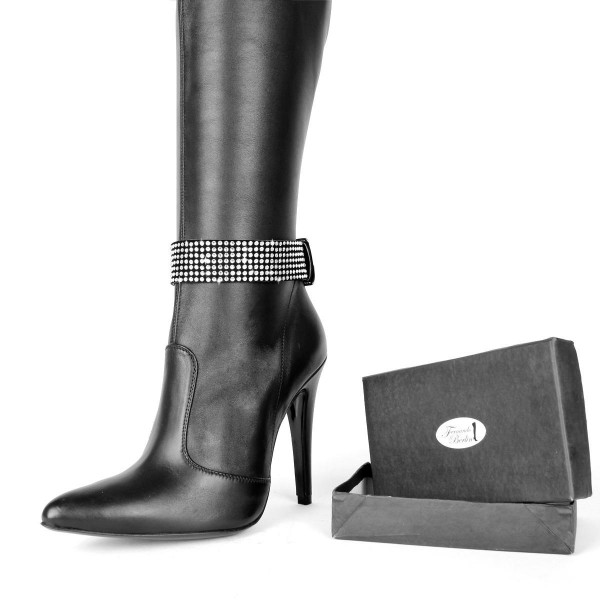 Boot belts with high-quality glass crystals standard size