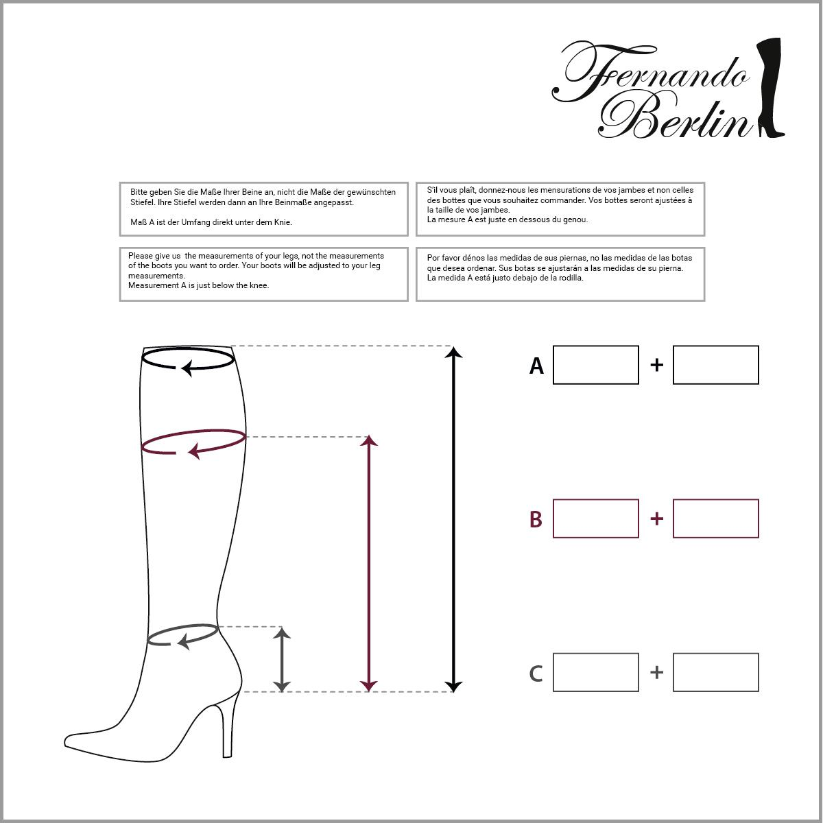Measurements kneehigh
