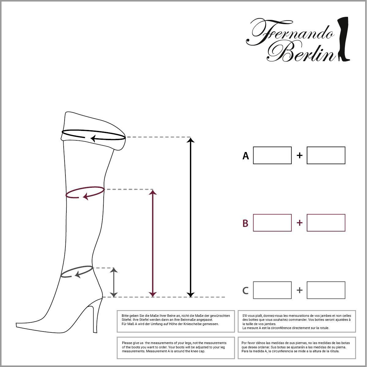 Measurements overknee fliptop