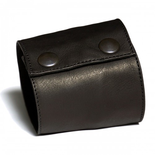 Portefeuille court manchette en cuir souple