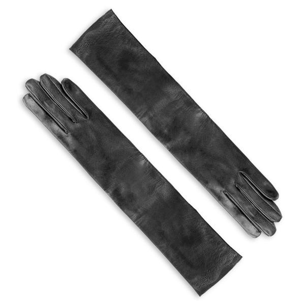 Gants longs mi-coude en cuir sur mesure (Modèle 203)