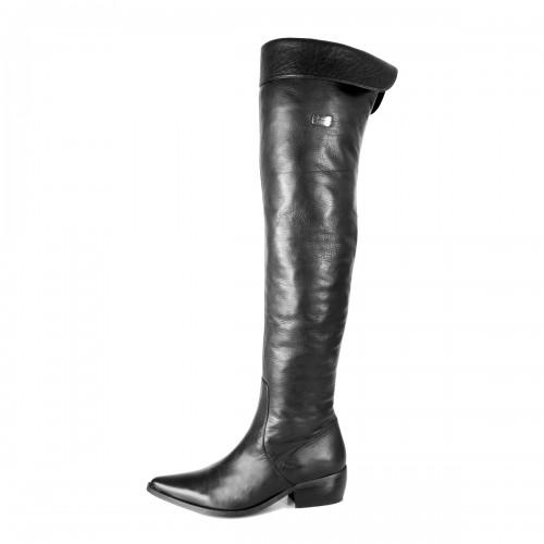 Klassischer Overknee Stiefel Umschlag flach Standardgröße (Modell 315)