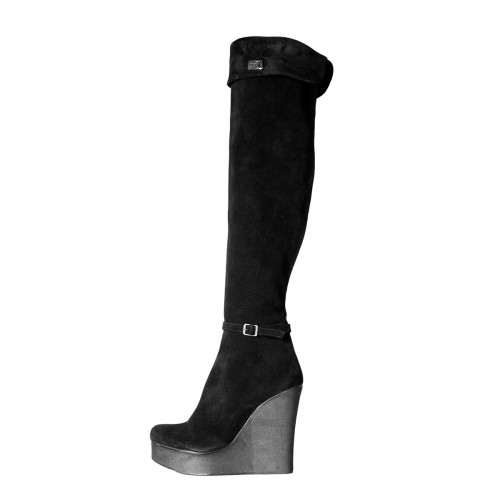 Overknee Stiefel mit Keilabsatz Wedges auf Maß (Modell 360)