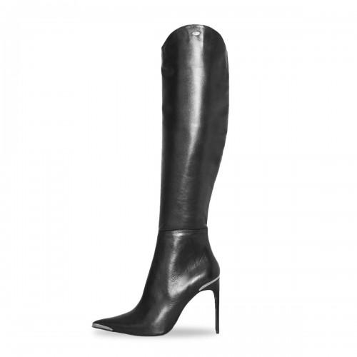Kniehoher Stiefel mit Metallspitze Standardgröße (Modell 460)