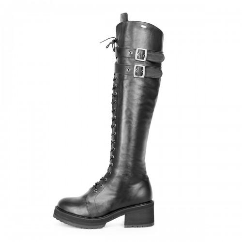 Stiefel im Combat/Gothic-Style kniehoch Standardgröße (Modell 470)