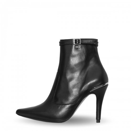 Stiefelette Bootie High Heel mit schmalem Riemchen Standardgröße (Modell 811)