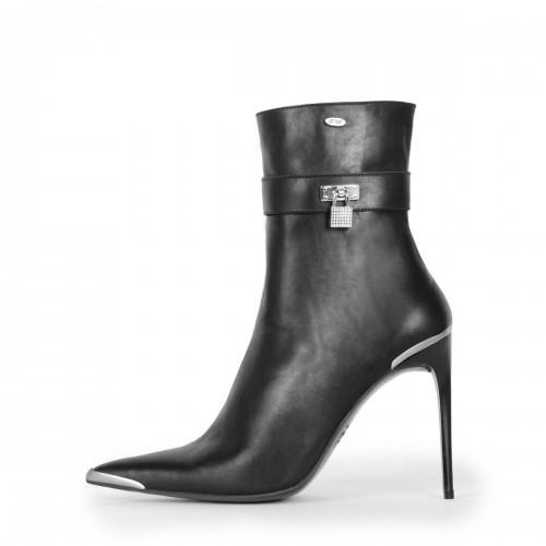 Stiefelette Bootie High Heel mit Metallspitze Standardgröße (Modell 860)