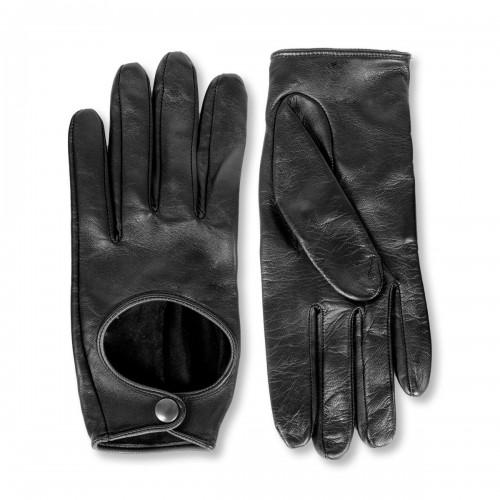 Kurze Autofahrer Handschuhe mit Druckknopf Standardgröße (Modell 212)