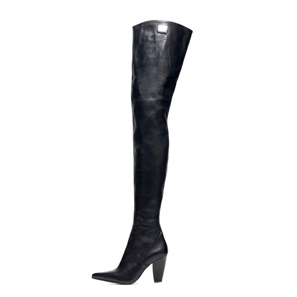 Overknee Stiefel schenkelhoch Blockabsatz auf Maß (Modell 112)