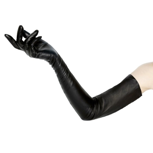 Galahandschuhe aus Leder oberarmlang auf Maß (Modell 201)