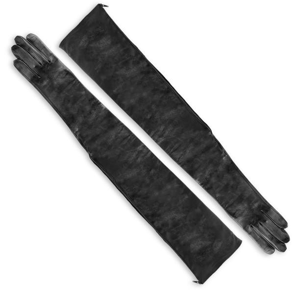 Galahandschuhe aus Leder mit Reißverschluss oberarmlang auf Maß (Modell 209)