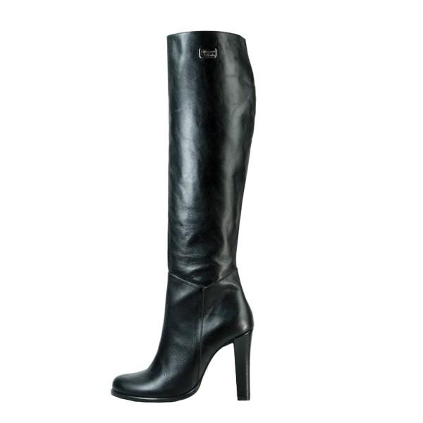 Kniehoher Stiefel mit breitem Absatz auf Maß (Modell 302)