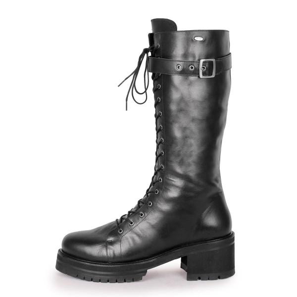 Stiefel im Combat/Gothic-Style wadenhoch Standardgröße (Modell 370)