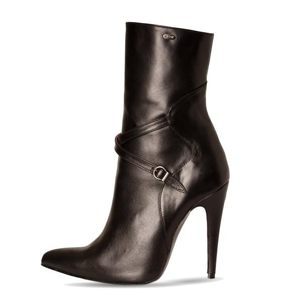 Stiefelette Bootie High Heel mit Schnalle Standardgröße (Modell 810)