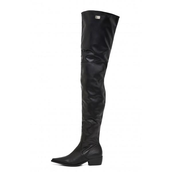 Flache Overknee Stiefel schenkelhoch auf Maß (Modell 115)