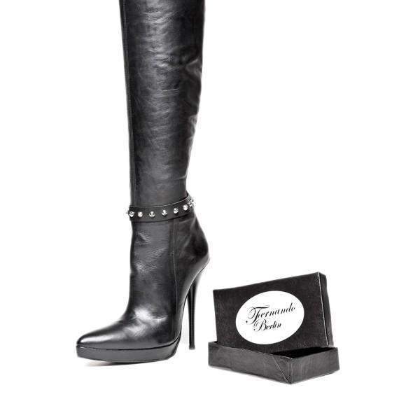 Stiefelband mit Nieten und Druckknopf Standardgröße