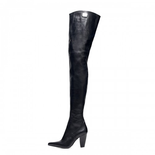 Crotch high boots block heel standard size (Model 112)