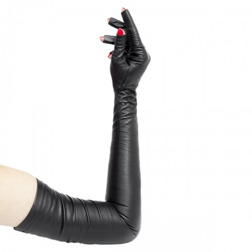 Opera leather gloves upper arm length tipless made-to-measure (Model 206)