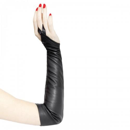 Handless leather gloves upper arm length standard size (Model 207)