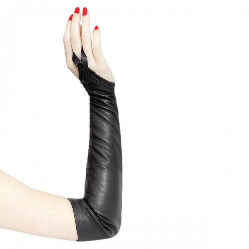Handless leather gloves upper arm length made-to-measure (Model 207)