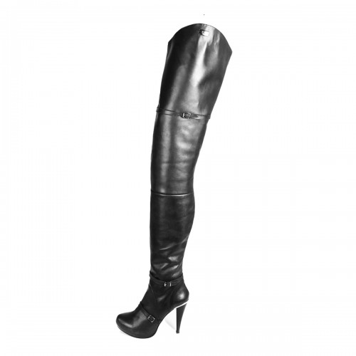 Super long high heel boots crotch high straps made-to-measure (Model 415)