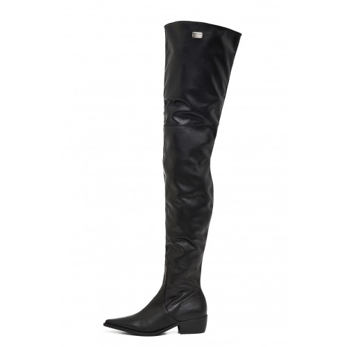 Flat crotch high boots made-to-measure (Model 115)