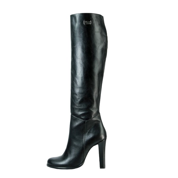 Knee high boot with wide heel standard size (Model 302)