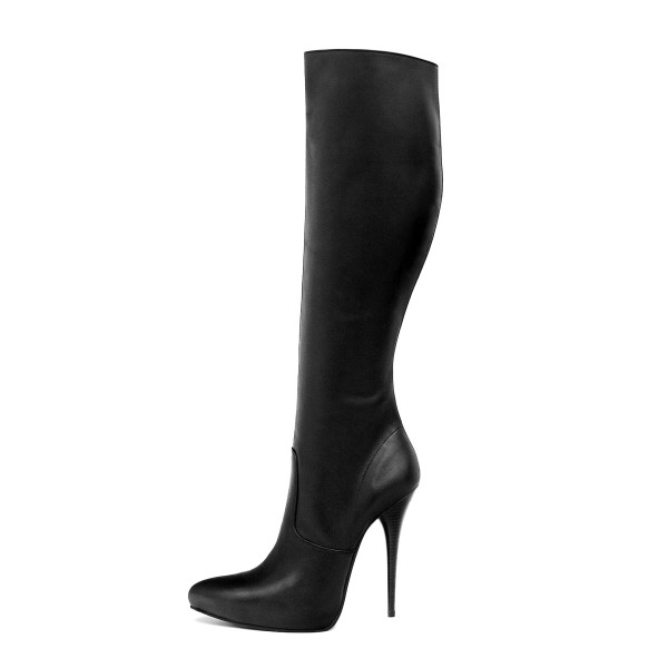 Knee high boot Heel 14 cm with platform made-to-measure (Model 303)