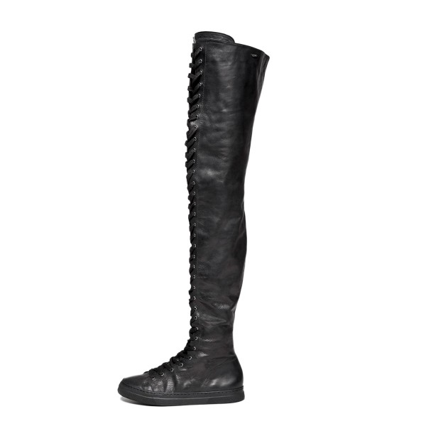 Sneakers thigh high with lacing made-to-measure (Model 500)