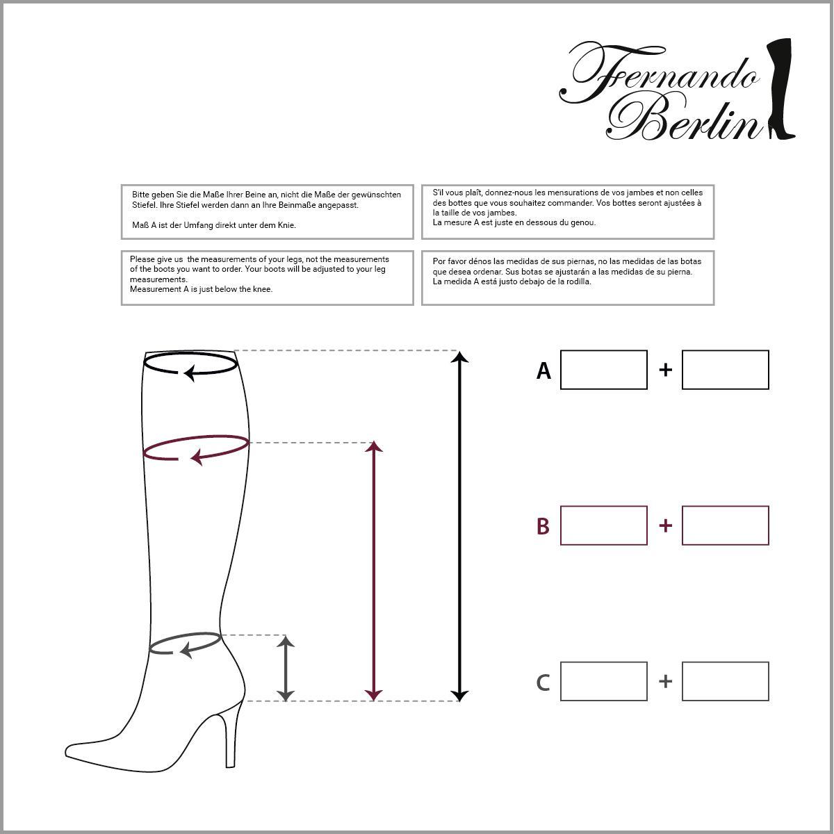 Measurements kneehigh