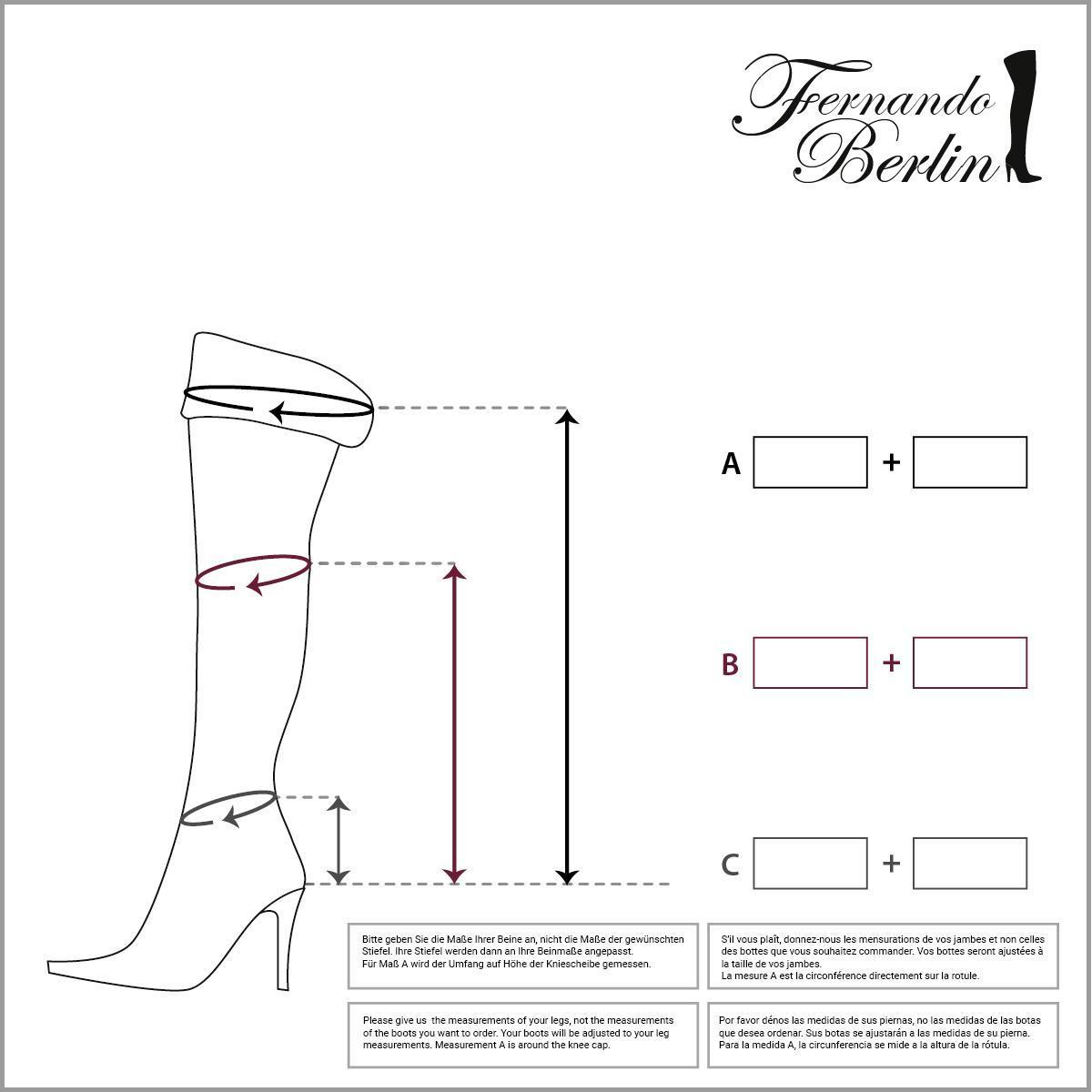 Measurements overknee fliptop